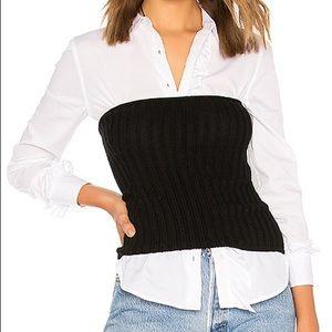 Equipment Buckley corset/tube top, 100% cashmere